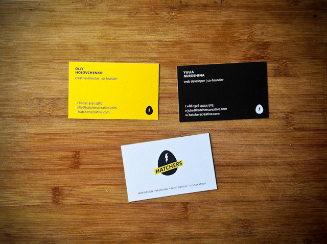 Hatchers business card