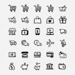 80 Hand-drawn Shopping and Commerce Icons