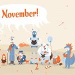 Desktop wallpaper for Smashing Magazine: November