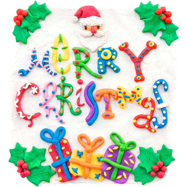 Plasticine Christmas Card